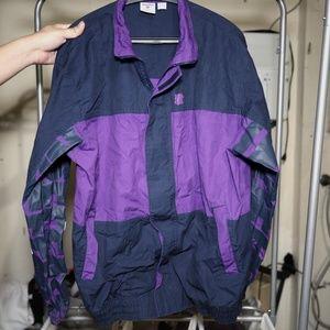 Large Black & Purple Undefeated Men  Jacket
